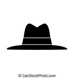 Hat black icon .