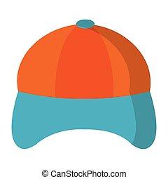 Hat cap cartoon isolated vector illustration graphic design