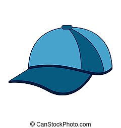 Hat cap wear isolated vector illustration graphic design...