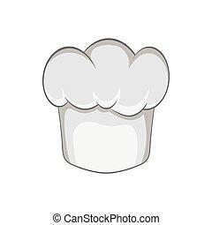 Hat chef icon, black monochrome style