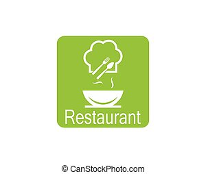 Hat chef logo template