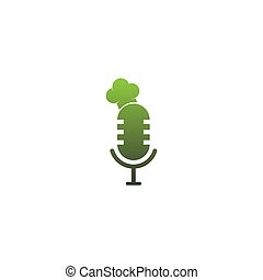 Hat chef on the podcast icon logo