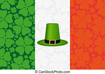 Hat cylinder on St. Patrick s Day vector illustration