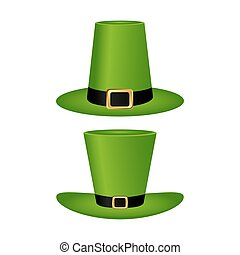 Hat cylinder on St. Patrick s Day vector illustration vector