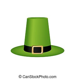 Hat cylinder on St. Patrick's Day vector illustration