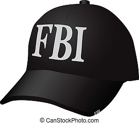 Uniforms for the employee of the Federal Bureau of Investigation - a baseball cap. Vector illustration.