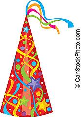 hat), feestje, (birthday, hoedje
