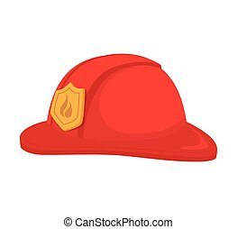 hat fireman firefighter cap icon vector graphic