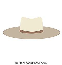 Hat flat illustration on white