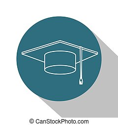 hat graduation isolated icon