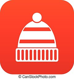 Hat icon digital red