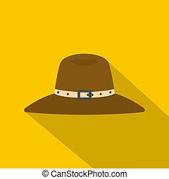 Hat icon, flat style