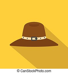 Hat icon, flat style