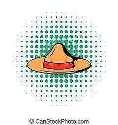 Hat icon in comics style