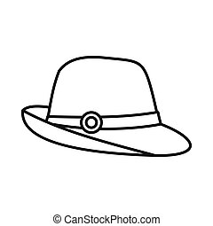 Hat icon in outline style