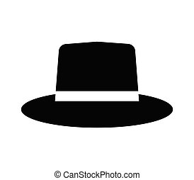 hat icon in vector on white background