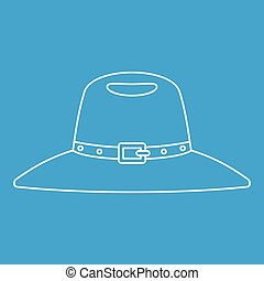 Hat icon, outline style