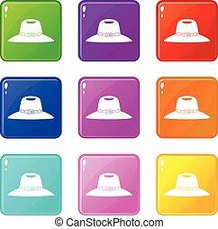 Hat icons 9 set