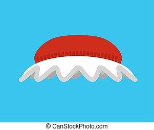 Hat Mrs. Santa. Red bonnet for grandma. Christmas Women cap