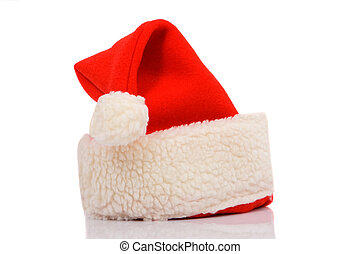 Hat of Santa Claus isolated on white