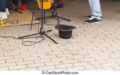 Hat of street musicians