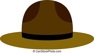 Hat officer of canadian equestrian cavalry icon - Hat of...