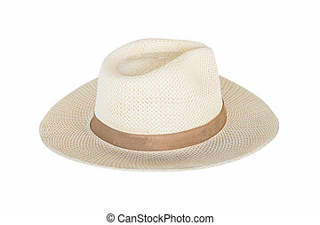 Hat on isolated white with clipping path.
