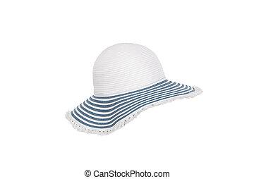 Hat on white background.