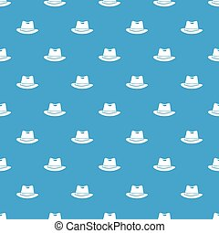 Hat pattern seamless blue