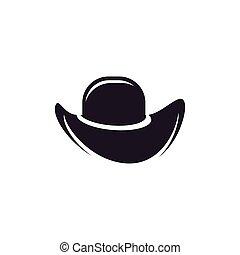Hat sherif icon logo creative illustration