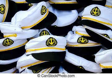 hat ship captain. background