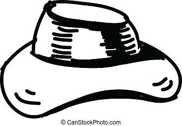 Hat sketch vector icon