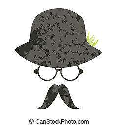 Hat, sunglasses and mustache vector