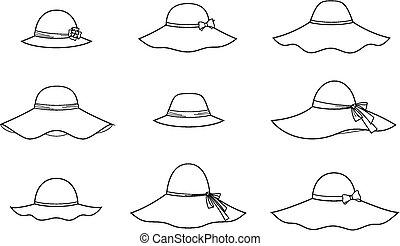 Hat - Vector illustration of women's hat