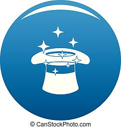 Hat with a star icon blue vector
