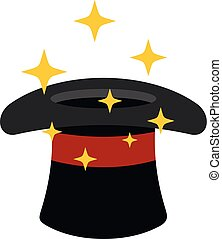 Hat with a star icon, cartoon style.