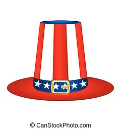 Hat with American flag image