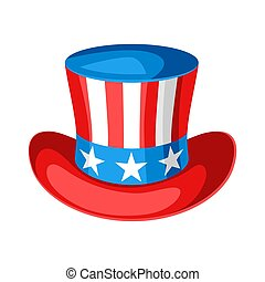 Hat with American Flag.
