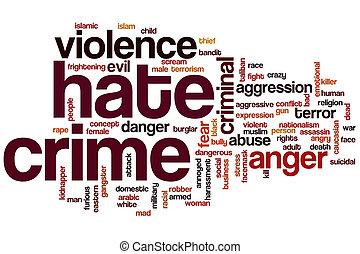 hata brott, ord, moln