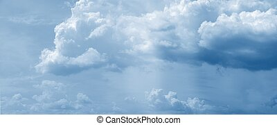 hatalmas, felhő, panoráma