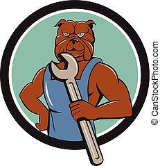 hatalom ficam, bulldog, karikatúra, karika, szerelő