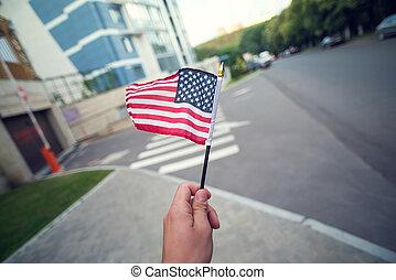 hatalom kezezés, american lobogó