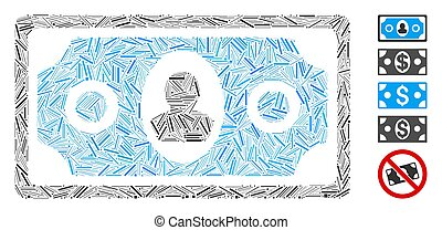 Hatch Collage Banknote Icon