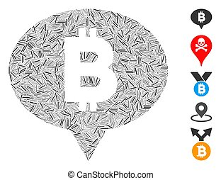 Hatch Collage Bitcoin Banner Balloon Icon