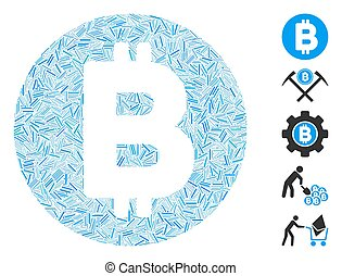 Hatch Collage Bitcoin Icon