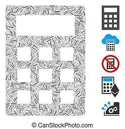 Hatch Collage Calculator Icon - Dash Mosaic based on ...