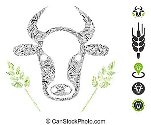 Hatch Collage Cow and Wheat Agriculture Icon