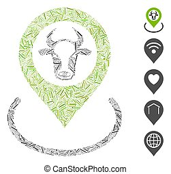 Hatch Collage Cow Location Icon