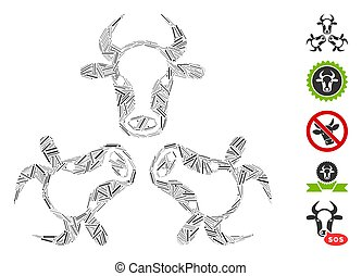 Hatch Collage Cow Trinity Icon