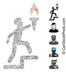 Hatch Collage Soldier Climbing with Torch Icon - Hatch ...